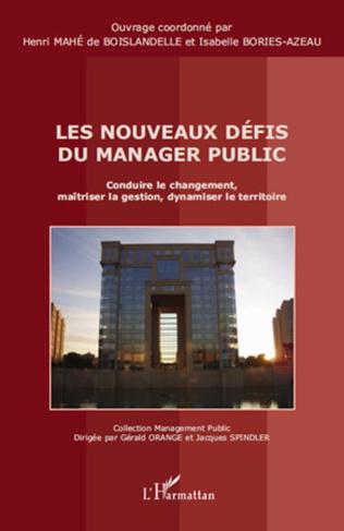 Couverture Les nouveaux défis du manager public