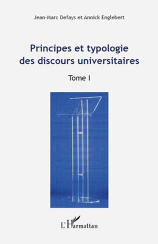 Couverture Principes et typologie des discours universitaires