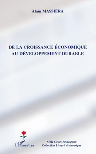 Couverture De la croissance économique au développement durable