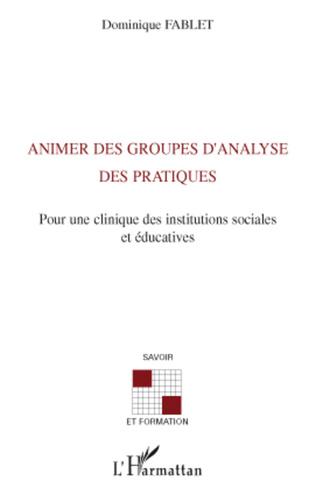 Couverture Animer des groupes d'analyse des pratiques