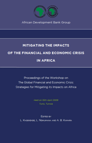 Couverture Mitigating the impacts of the financial and economic crisis in Africa