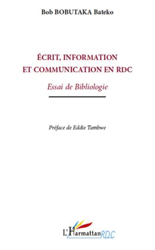 Couverture Ecrit, information et communication en RDC