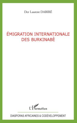 Couverture Emigration internationale des Burkinabè
