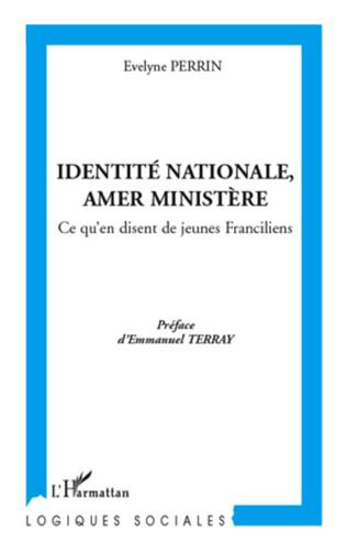 Couverture Identité nationale, amer Ministère
