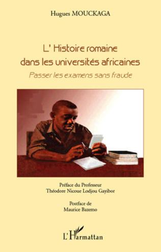 Couverture L'histoire romaine dans les universités africaines