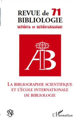 Couverture ANALYSE SCIENTOMÉTRIQUE DE LA REVUE BIBLIOLOGIE, SCHÉMA ET SCHÉMATISATION (SSB