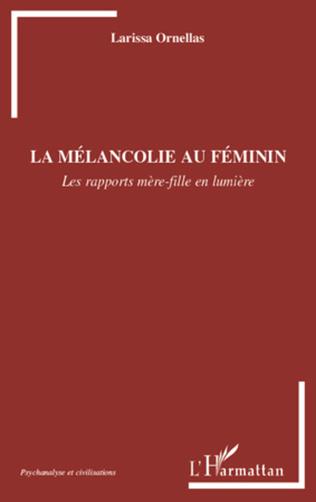 Couverture La mélancolie au féminin