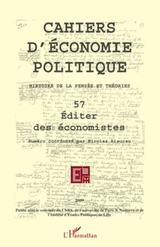 Couverture Editer des économistes