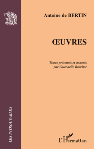 Couverture OEUVRES
