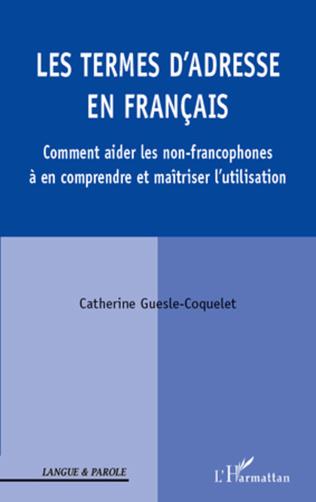 Couverture Les termes d'adresse en Français