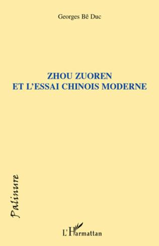 Couverture Zhou Zuoren et l'essai chinois moderne