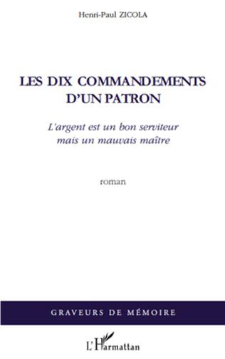 Couverture Les dix commandements d'un patron