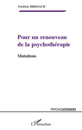 Couverture Pour un renouveau de la psychothérapie