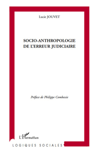 Couverture Socio-anthropologie de l'erreur judiciaire