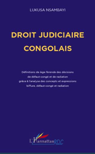 Couverture Droit judiciaire congolais