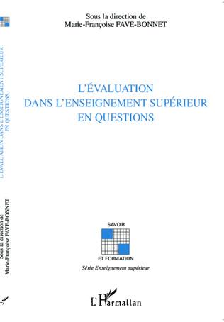 Couverture L'évaluation dans l'enseignement supérieur en questions