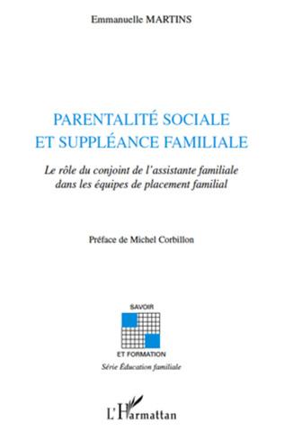 Couverture Parentalité sociale et suppléance familiale
