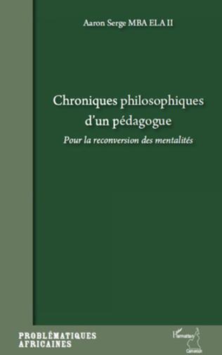 Couverture Chroniques philosophiques d'un pédagogue