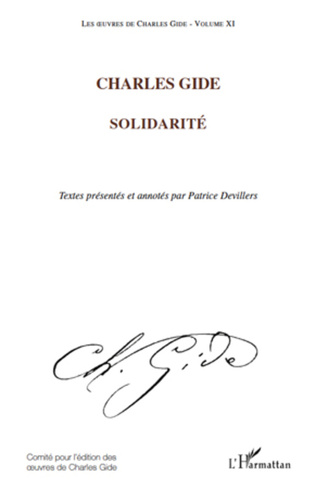 Couverture Charles Gide (Volume XI)