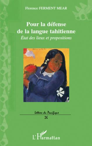 Couverture Pour la défense de la langue tahitienne