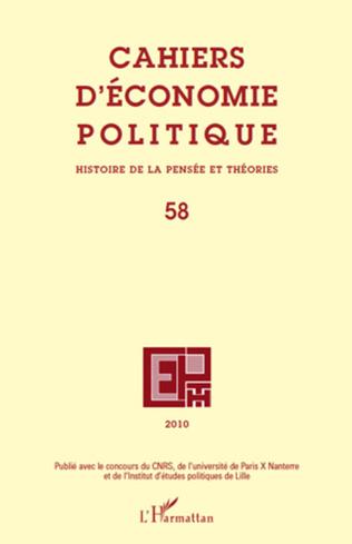 Couverture Cahiers d'économie politique N°58