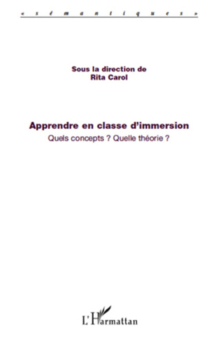 Couverture Apprendre en classe d'immersion