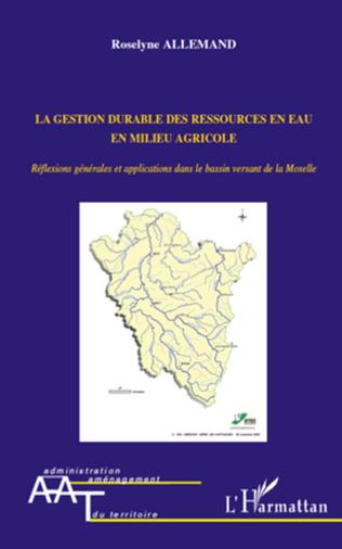 Couverture La gestion durable des ressources en eau en milieu agricole