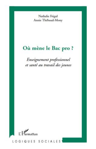 Couverture L'ENSEIGNEMENT PROFESSIONNEL ET LES ENJEUX DE SANTE AU TRAVAIL