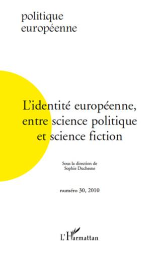Couverture L'identité européenne entre science politique et science fiction