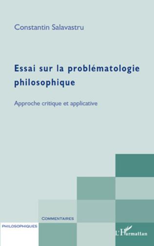 Couverture Essai sur la problématologie philosophique