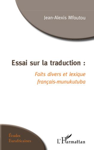 Couverture Essai sur la traduction