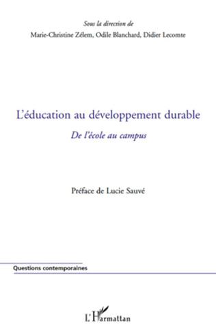 Couverture L'éducation au développement durable