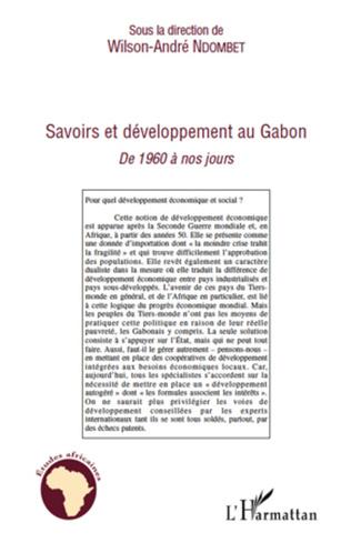 Couverture Savoirs et développement au Gabon