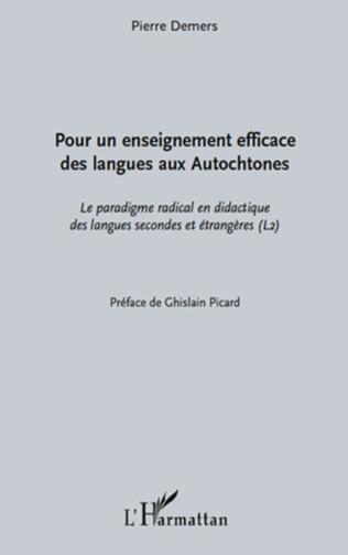 Couverture Pour un enseignement efficace des langues aux autochtones