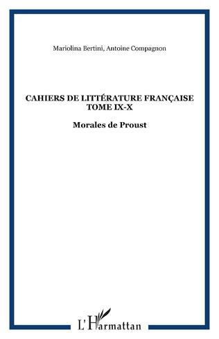 Couverture Cahiers de Littérature Française Tome IX-X