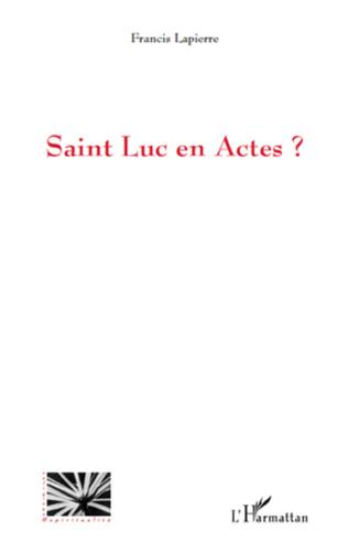 Couverture Saint Luc en Actes ?