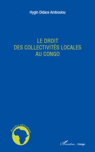Couverture Le droit des collectivités locales au Congo