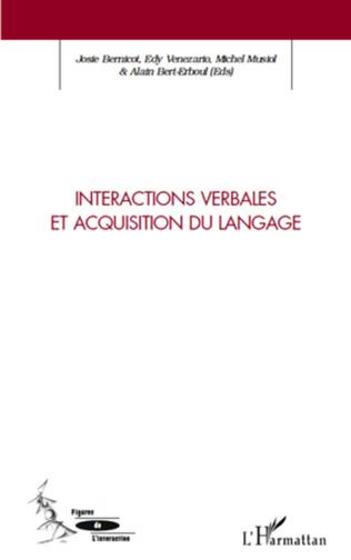 Couverture Interactions verbales et acquisition du langage