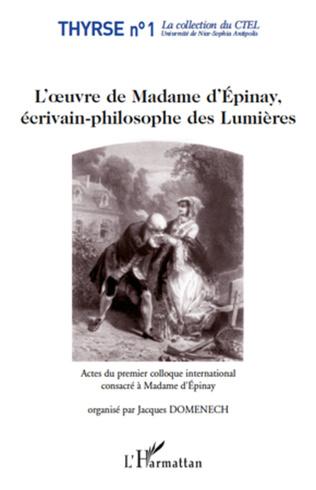 Couverture L'oeuvre de Madame d'Epinay,