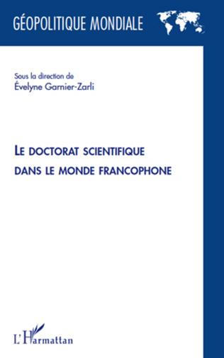 Couverture Le doctorat scientifique dans le monde francophone