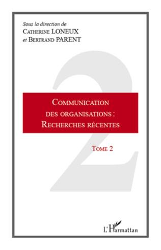 Couverture Communication des organisations : recherches récentes