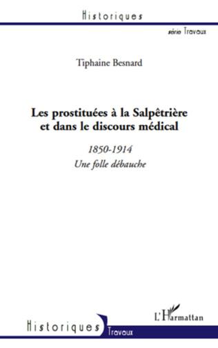Couverture Les prostituées à la Salpêtrière et dans le discours médical (1850-1914)
