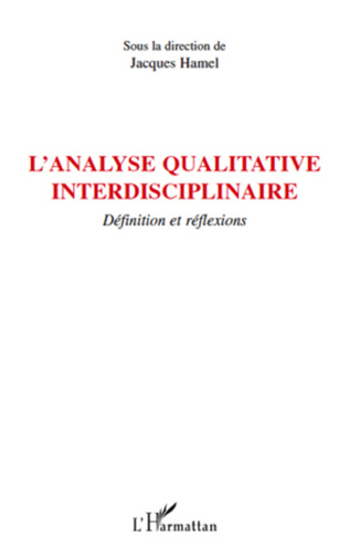 Couverture L'analyse qualitative interdisciplinaire