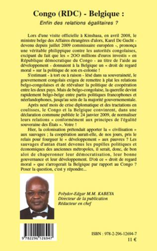 Couverture Congo (RDC) - Belgique