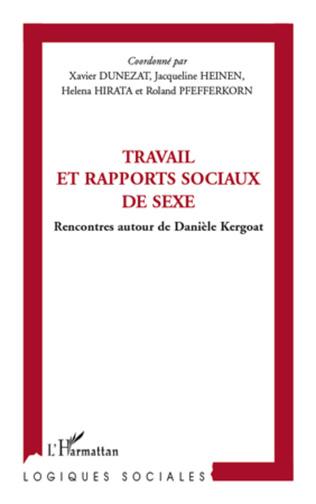 Couverture Travail et rapports sociaux de sexe