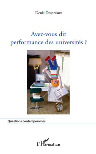 Couverture Avez-vous dit performance des universités ?