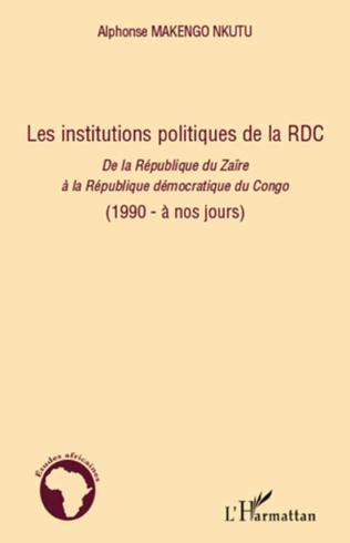 Couverture Les institutions politiques de la RDC