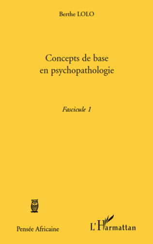 Couverture Concepts de base en psychopathologie
