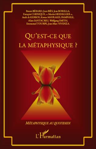 Couverture Qu'est-ce que la métaphysique ?