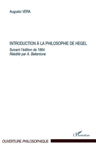 Couverture Introduction à la philosophie de Hegel